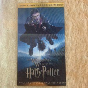 WWOHP 2010 Commemorative collectible 3d Ticket